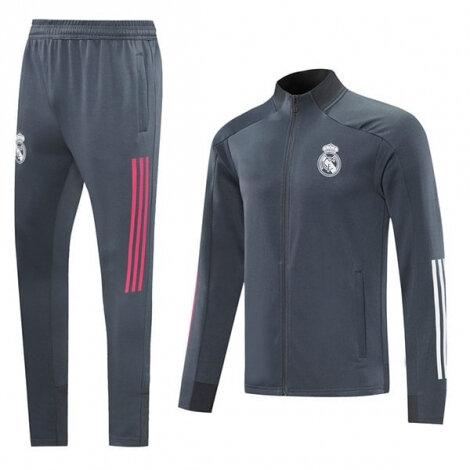 Серо-бело-розовый тренировочный костюм Реал Мадрид 2020-2021 сезона