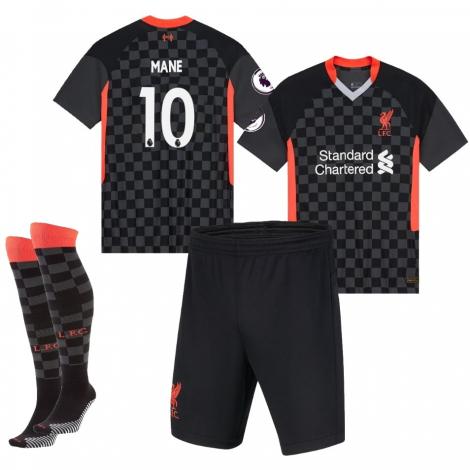 Форма Ливерпуль детская резервная 2020-2021 Мане номер 10 (футболка + шорты + гетры)