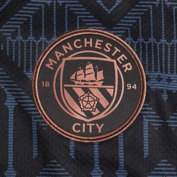 Манчестер Сити детская гостевая форма 2020-2021 (футболка + шорты + гетры)