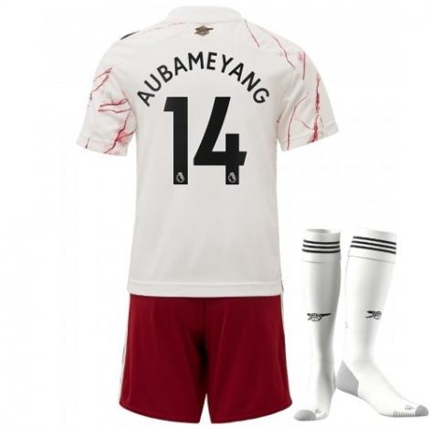 Детская гостевая футбольная форма Арсенала Обамеянг номер 14